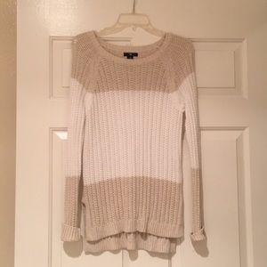 GAP knit cream and white sweater